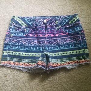 Multi-Color Jean Shorts